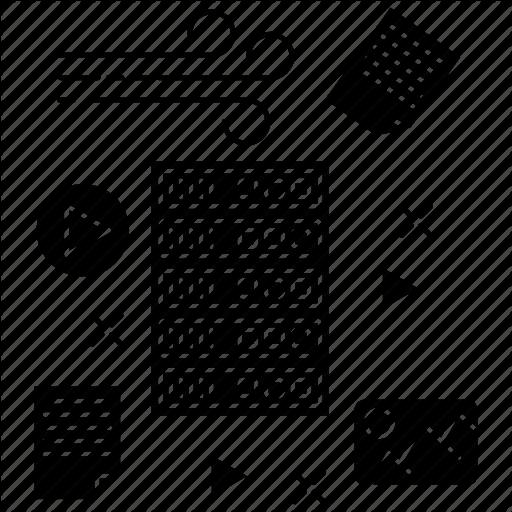 Data, Database, Internet, Server, Technology, Unstructured Icon