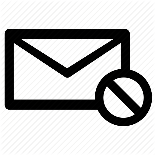 Block, Email, Mail, Newsletter, Unsubscribe Icon