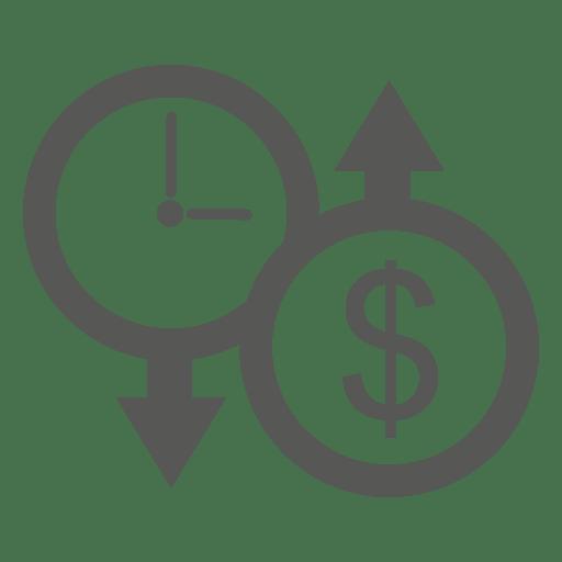 Down Clock Up Dollar Icon