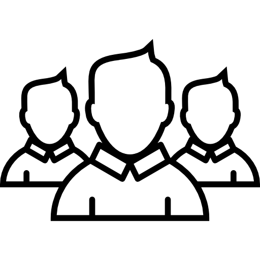 Boys Group Close Ups Outlines Icons Free Download