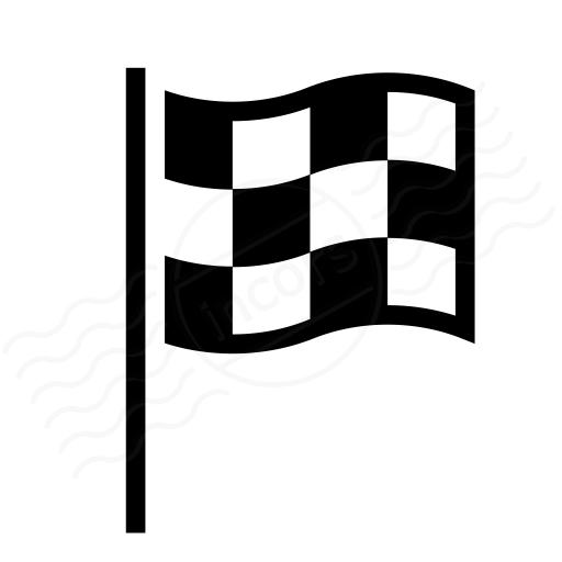 Iconexperience I Collection Signal Flag Checkered Icon