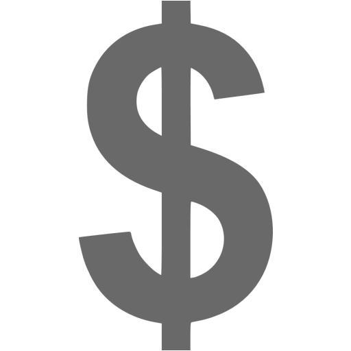 Dim Gray Us Dollar Icon