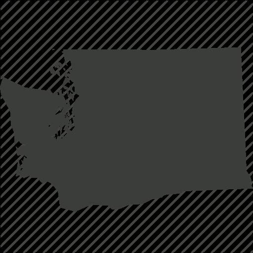 America, Location, Map, State, Usa, Washington Icon