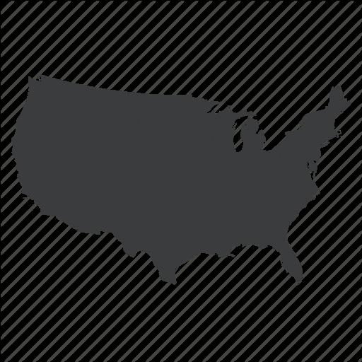 America, Location, Map, Navigation, United States, Us, Usa Icon