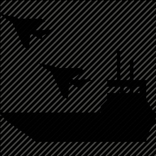 Aircraft, Attach, Attack, Carrier, Intercepter, Navy, Ship Icon
