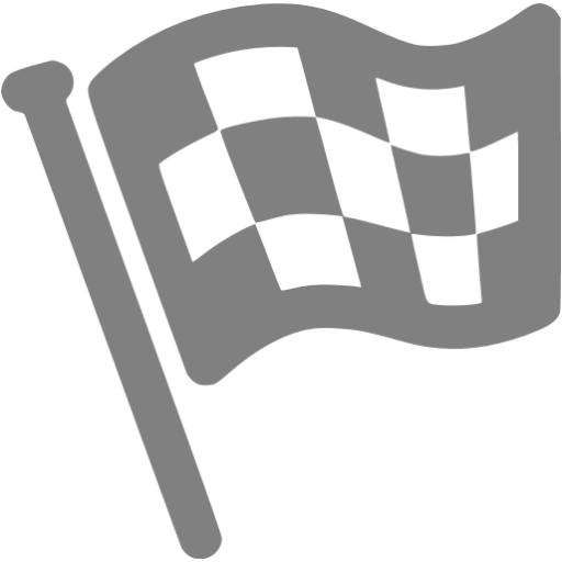 Gray Finish Flag Icon