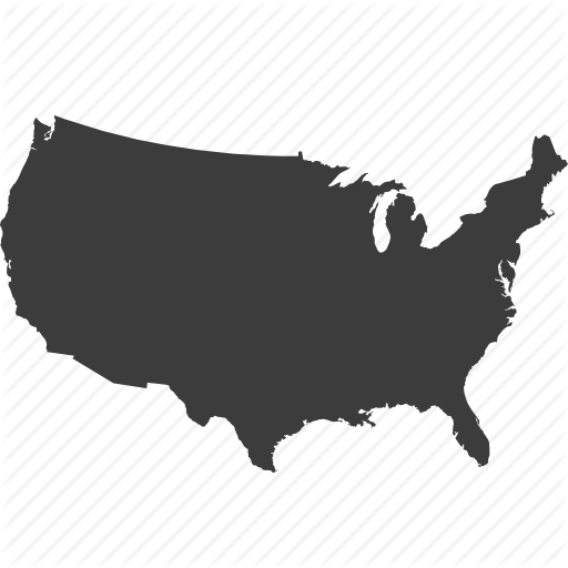 America, Location, Map, United States Map, Us Map, Usa Icon