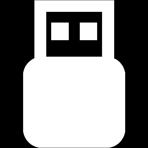 White Usb On Icon