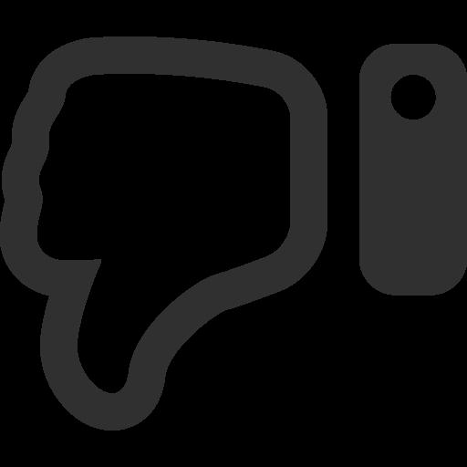 Thumbs Down Icon Mono Business Iconset Custom Icon Design