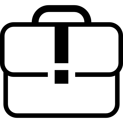 White Case Suitcase Outline Icons Free Download