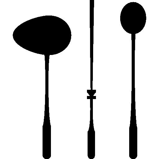 Spoons And Skewer Long Kitchen Utensils Icon Kitchen Freepik