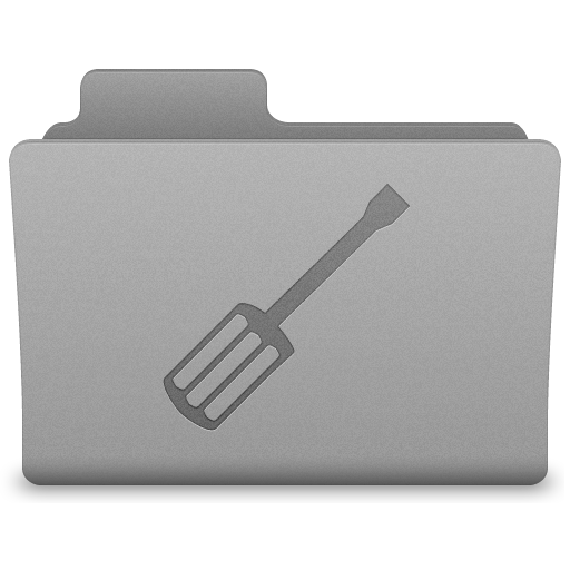 Grey Utilities Folder Icon