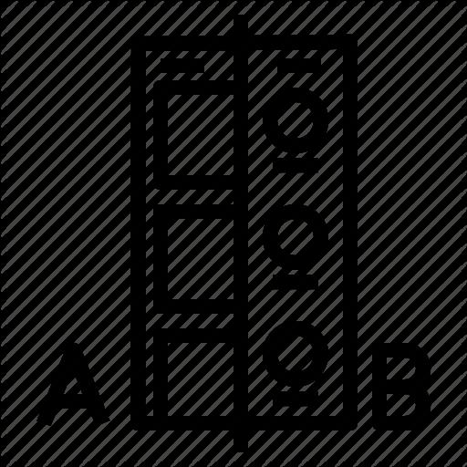 A, B, Prototype, Test, Testing, Ui, Ux Icon