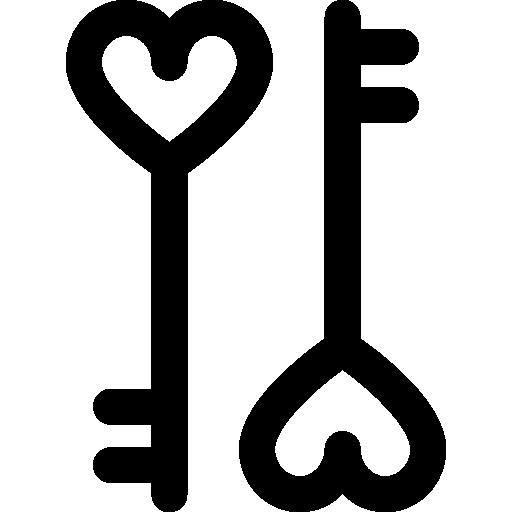 Valentines Day Key Icon