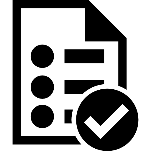 List Verification Symbol Icons Free Download