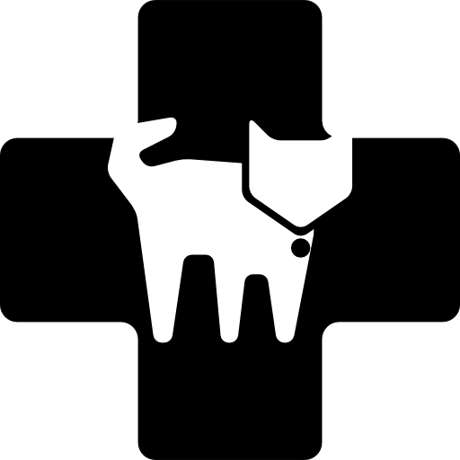 Veterinary Clinic Symbol Of A Cat In A Cross Icons Free Download