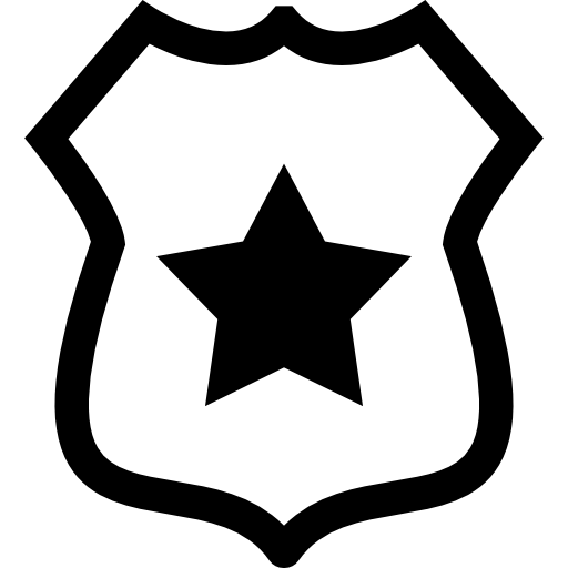 Shield With A Star Icons Free Download