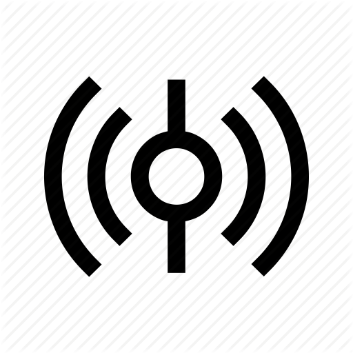 Emitting, Frequency, Internet, Signal, Sound, Vibration, Waves Icon