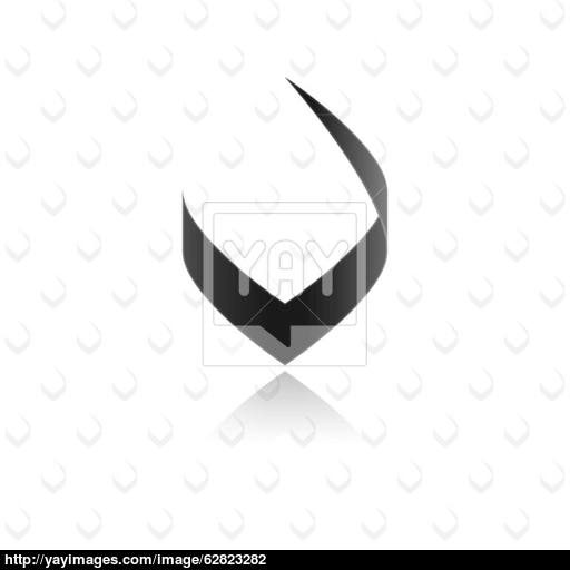 Black Victory Icon Background Vector