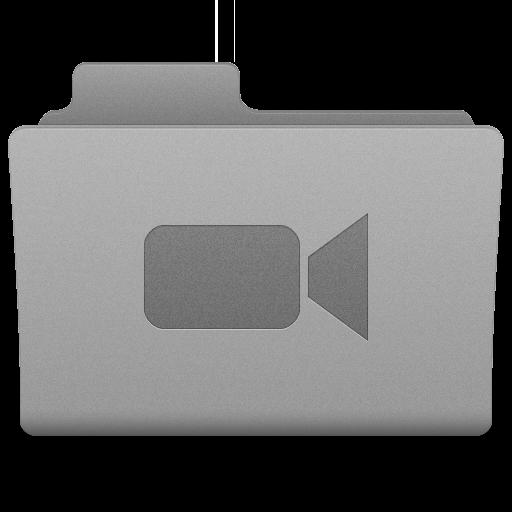 Grey Movies Folder Icon