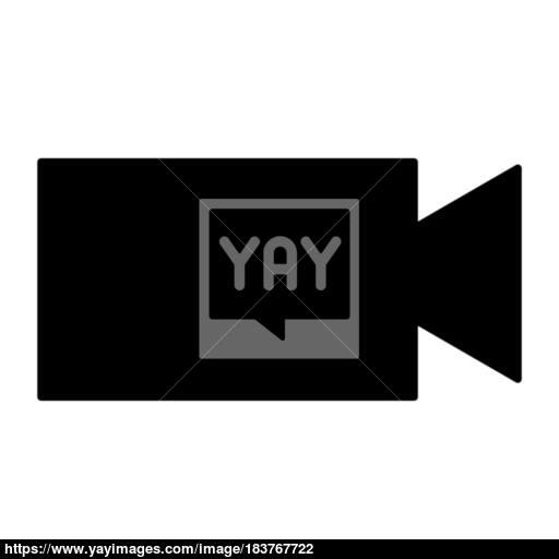 Video Camera The Black Color Icon Vector