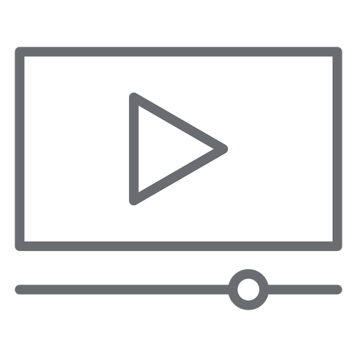 Video Player Interface Stroke Icon