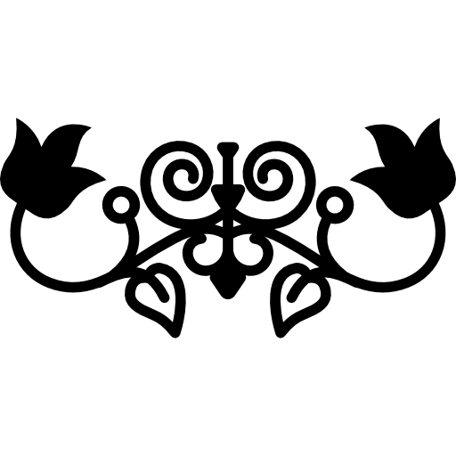 Floral Silhouette With Vines And Leaves Variant Design Icons