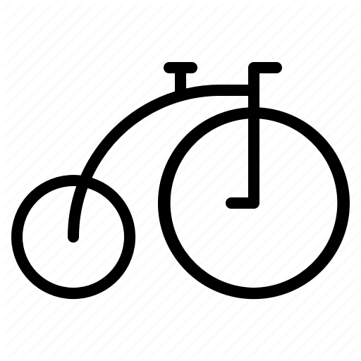 Bike, Cycle, Old, Transportation, Vehicle, Vintage Icon