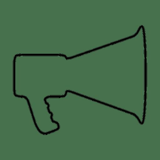 Megaphone Thin Line Icon