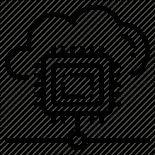 Cloud, Cpu, Infrastructure, Processor, Server, Virtual Icon