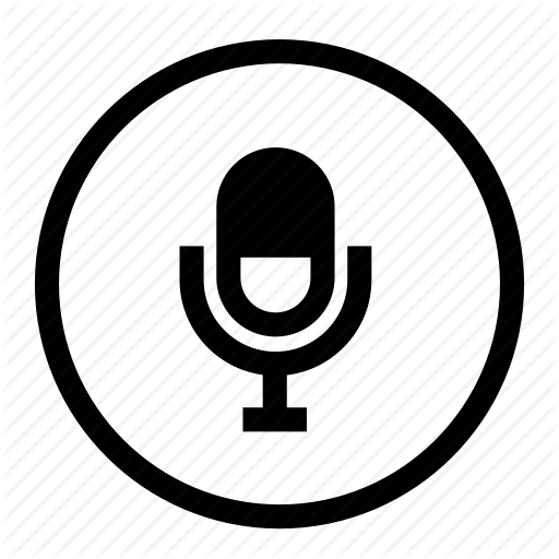 Mic, Microphone, Record, Roundedwhite, Voice, Voice Control Icon