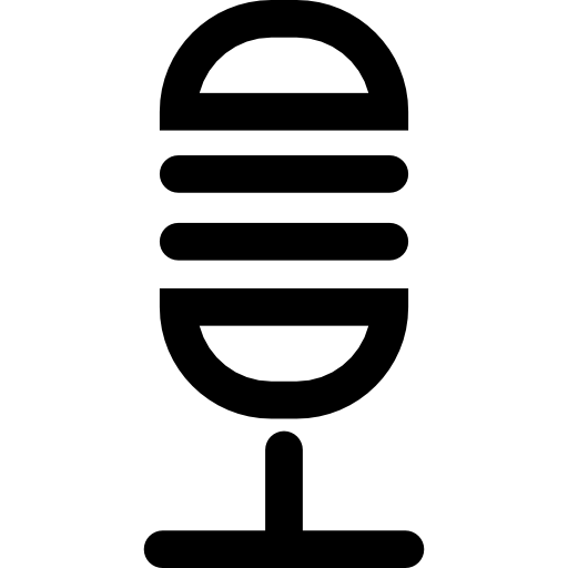 Microphone Voice Amplification Instrument Icons Free Download