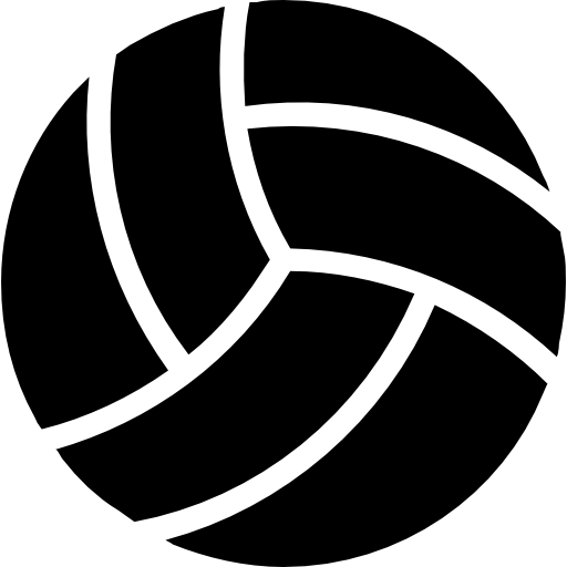 Volleyball Black Ball Icons Free Download