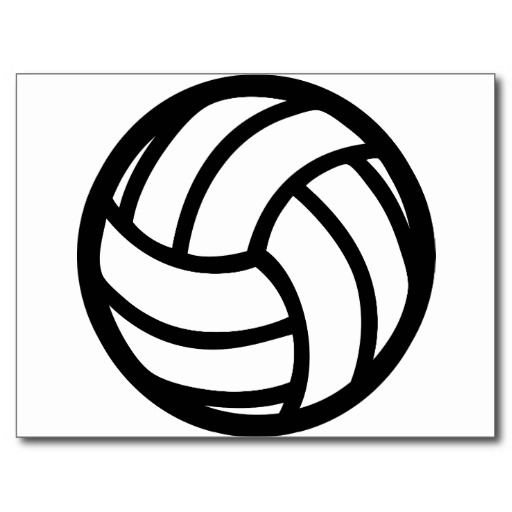 Black Volleyball Icon