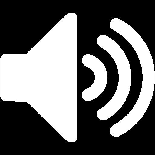 White Volume Up Icon