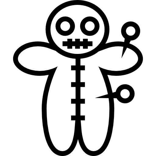 Voodoo Doll With Pins Icons Free Download