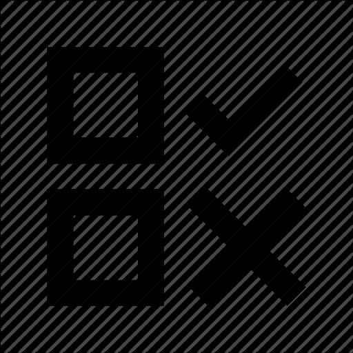Cross, No, Tick, Voting Symbol, Yes Icon