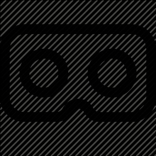 Cardboard, Gear Vr, Goggles, Oculus, Virtual Reality Goggles, Vr Icon