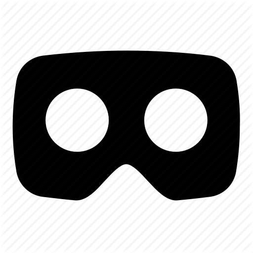 Filled, Solid Icon, Virtual Reality, Vr, Vr Headset Icon
