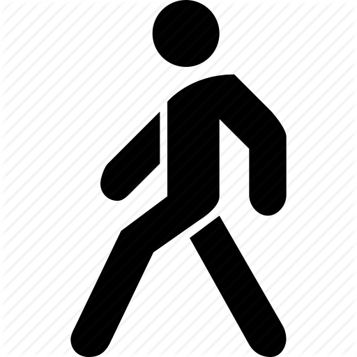 Transparent Walking Icon