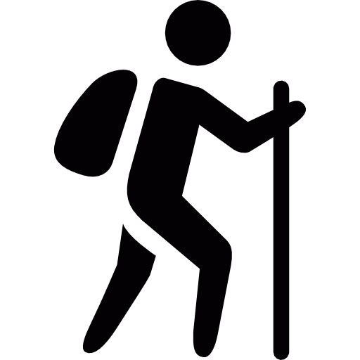 Walk, Trekking, Sport, Sports, Traveller, Hiking, Cane Icon