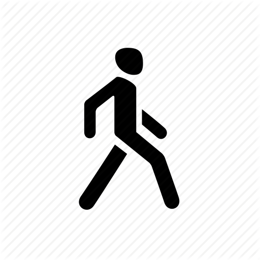 Go, Man, Pedestrian, People, Walk, Walking Icon