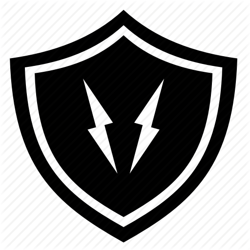 Protection, Secure, Shield, Thunder Icon