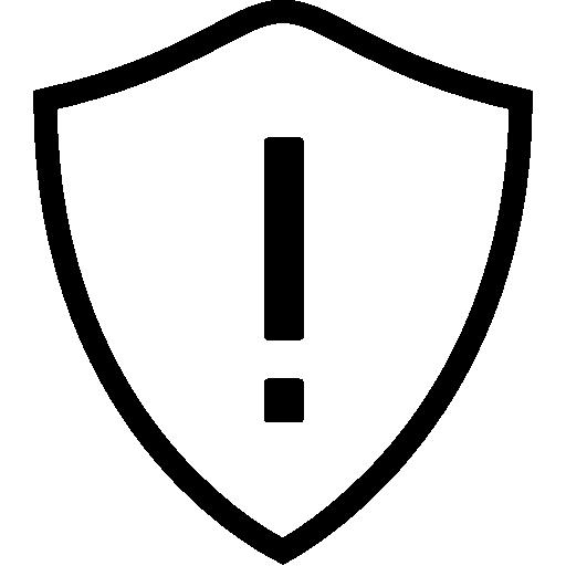 Network Warning Shield Icon Ios Iconset