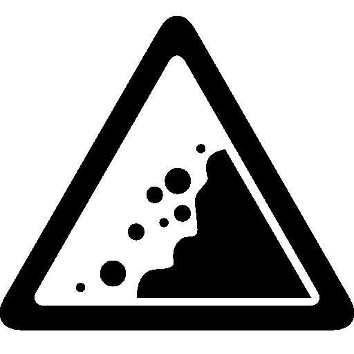 Landslide Danger Triangular Traffic Signal Icons Free Download