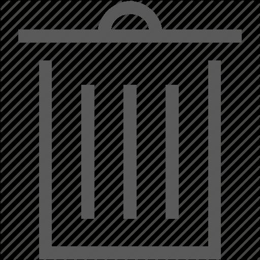 Computer, Garbage Can, Tresh Can, Wastebasket Icon