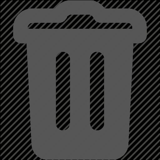 Delete, Remove, Trash, Waste Basket Icon