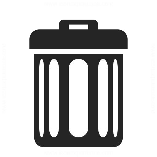 Garbage Can Icon Iconexperience