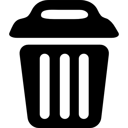 Waste Bin With Cover Icons Free Download