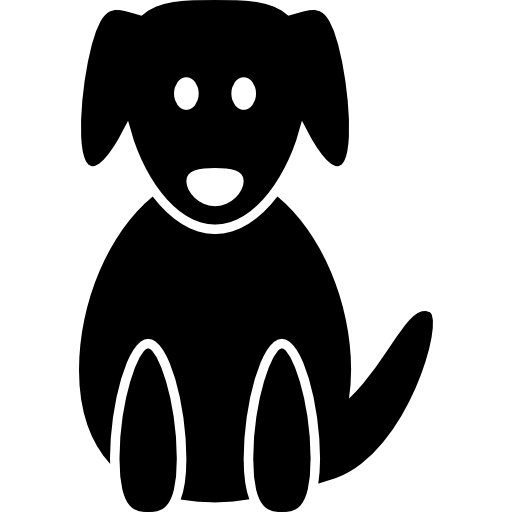 Dog Silhouette In A Sitting Position
